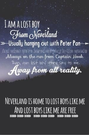 Lost boy by: Ruth b Peter Pan lost boy neverland song lyrics quotes good quotes Peter Pan quotes--this would be an amazing print by rene