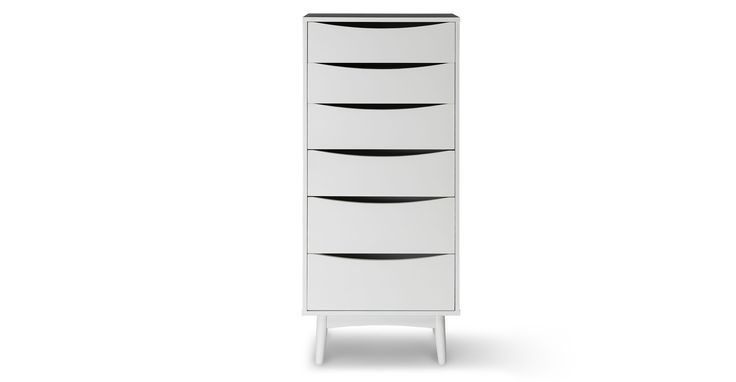 Culla White 6 Drawer Dresser - Storage - Article | Modern, Mid-Century and Scandinavian Furniture