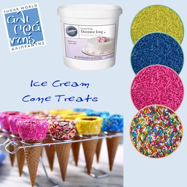 Η Sugar World Αλιπράντης ΕΠΕ, σας εύχεται καλό καλοκαίρι και σας προτείνει μια γλυκιά και πολύχρωμη διακόσμηση για τα καλοκαιρινά σας παγωτά!