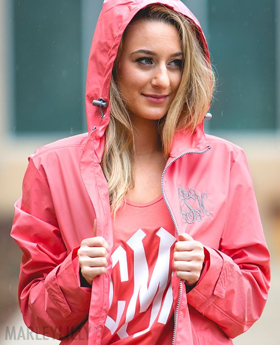 d46d7f484 Rain, rain, come our way! This Monogrammed New England Rain Jacket ...