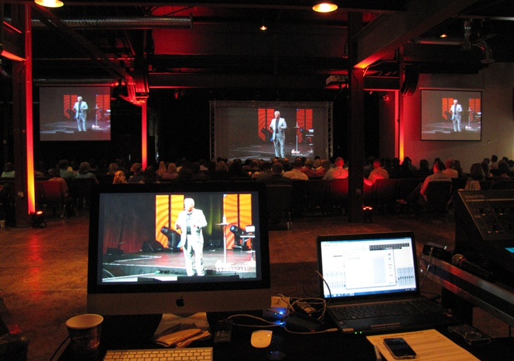 Audio, Video, and Lighting for the Chik-Fil-A Leadercast simulcast