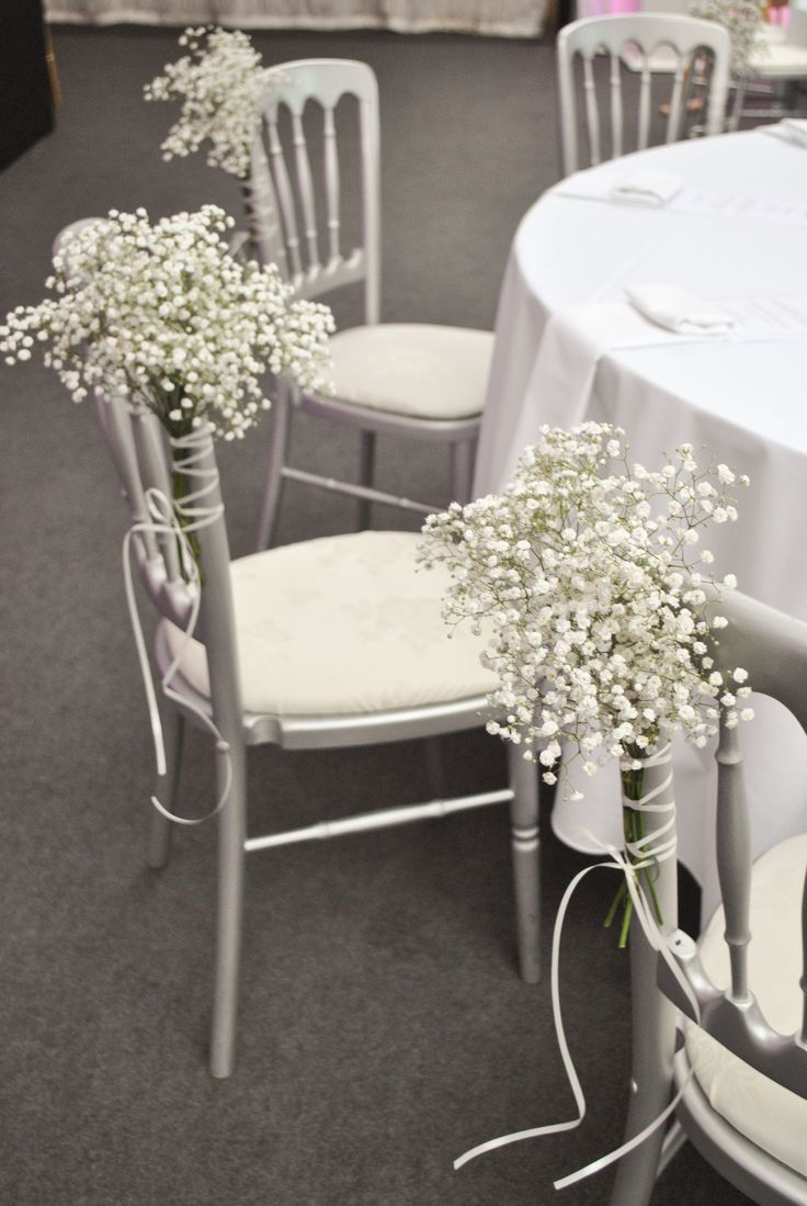 baby breath wedding aisle decorations | Pink and white wedding flowers | Heaton House Farm | Laurel Weddings