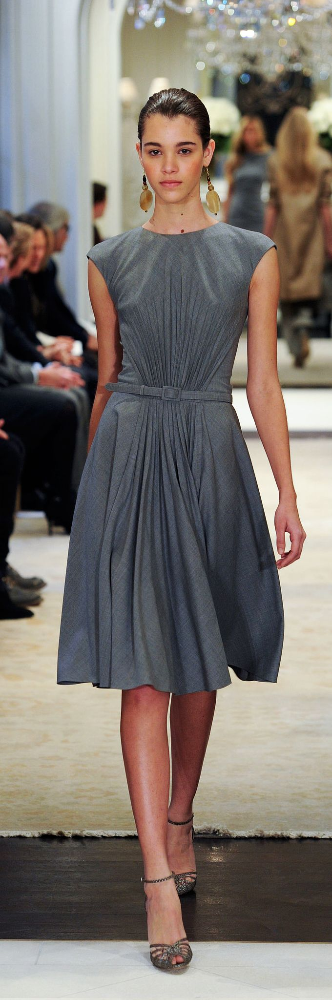 Ralph Lauren Pre-Fall 2014 Ready to Wear Collection - grey afternoon dress