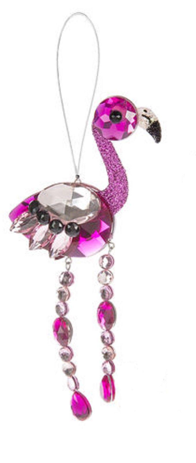 Pink Flamingo SUNCATCHER Ganz Crystal Expressions w Suction Cup Holder | eBay