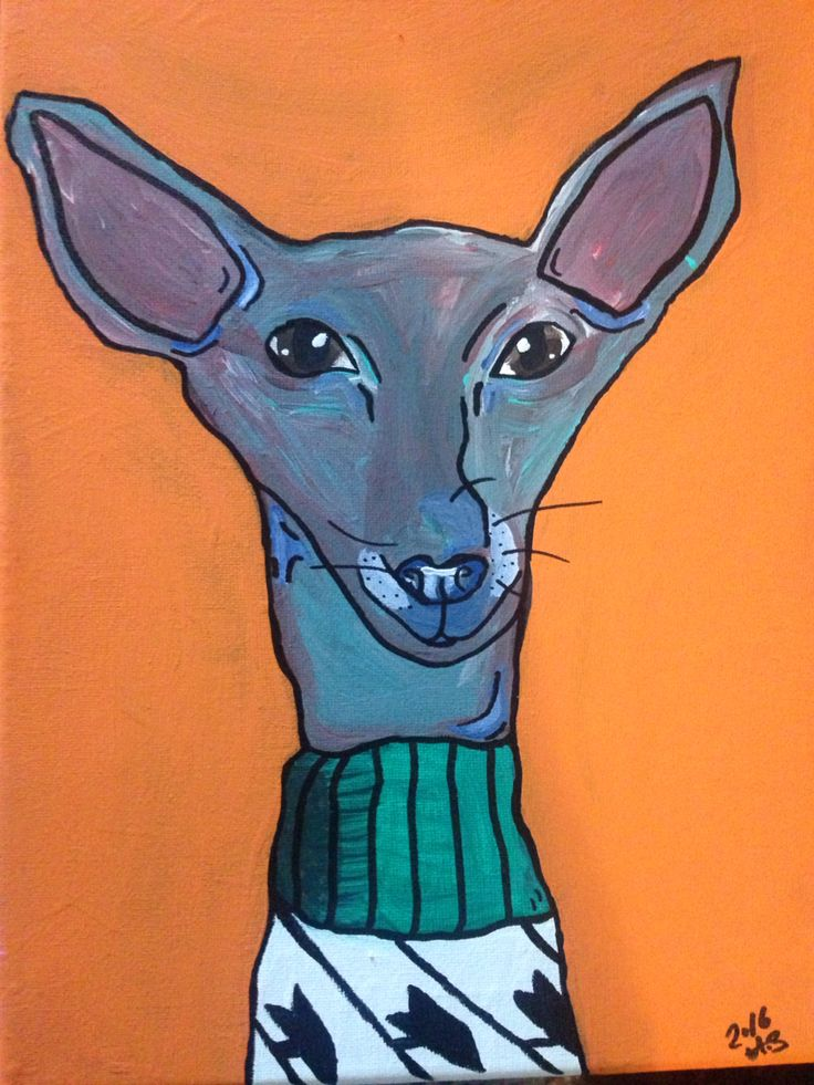 My chihuahua x min pin abstract painting - inspired by my dog