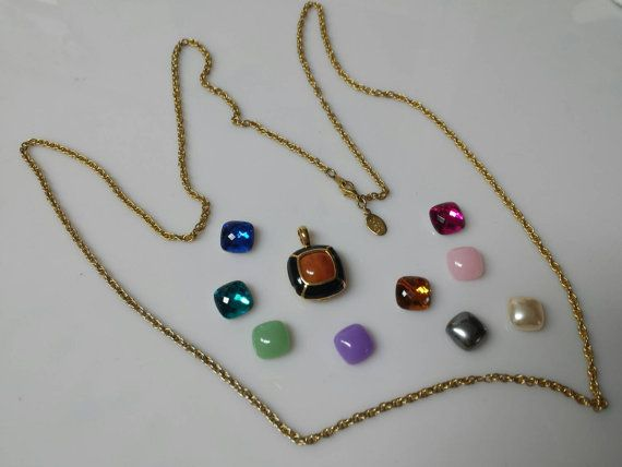 Joan Rivers Convertible  Pendant   Necklace Mint by LucyLucyLemon