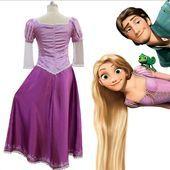 ladies princess rapunzel tangled pink party long cosplay k