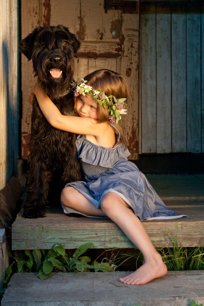 Fotos de crianças com seus cães