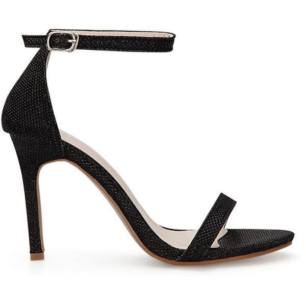 de59433b4dc Yoins Black Cross Strap High Heels With Ankle Pin Buckle Strap ( 38) ❤ liked