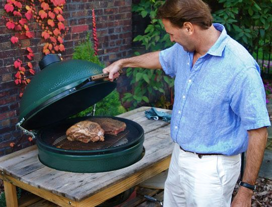 Big Green Egg -- love mine! Too little tie, too many recipes!