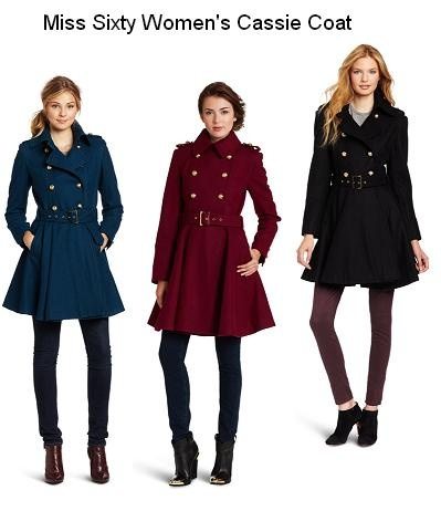 The coat looks even better in person than in the picture. It's absolutely adorable and, in my opinion, timeless. Fitted to the waist and beautifully flared at and below the hip. And the military style buttons add even more pizzazz. Very unique and cute! Details http://www.amazon.com/dp/B008JCSFEY/?tag=pinterest0e50-20