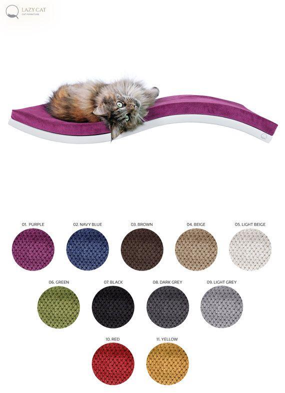 Cat shelf, Shelf Wave Soft, pet design, cat furniture, soft pillow, floating cat shelves, cat bed, cat perch