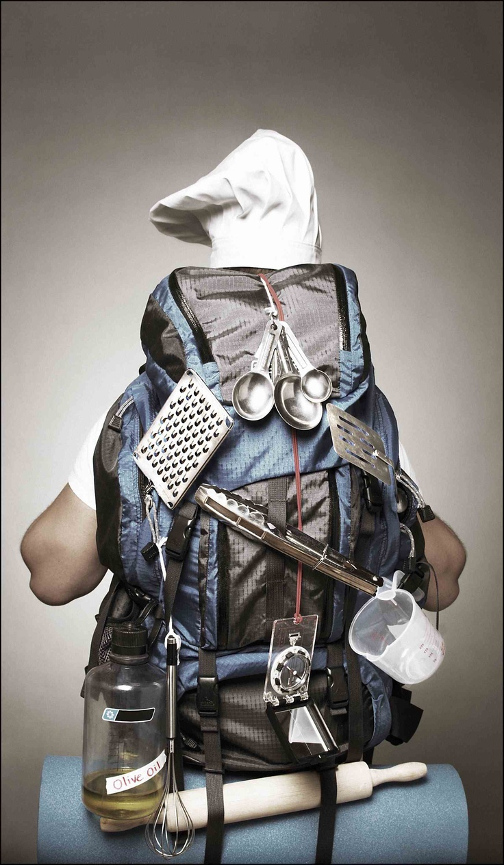 Chef backpacker, funny : )
