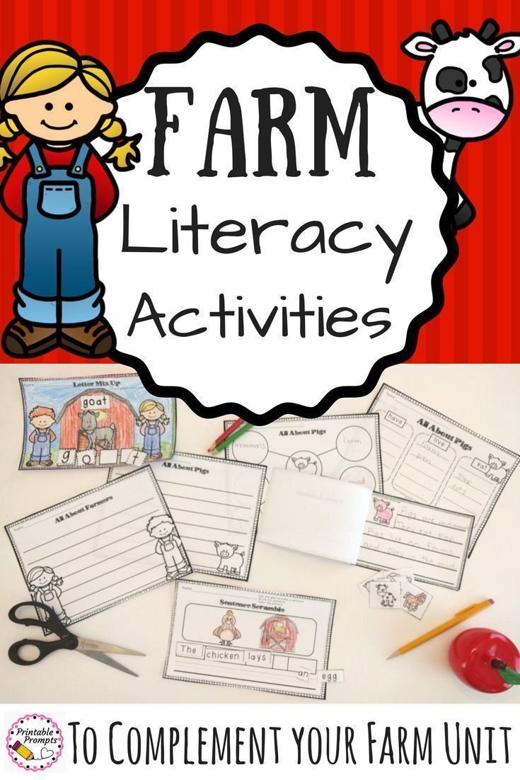 Farm units are a definite student favorite! These literacy farm themed activities support a farm theme with sentence scrambles, word scrambles, graphic organizers, writing pages, and a farm book template. Perfect for K-2 students learning about the farm or even to use after a farm field trip! Farm Animals | Farm Activities | Elementary Farm themed Literacy | Trip to the Farm | Down on the Farm