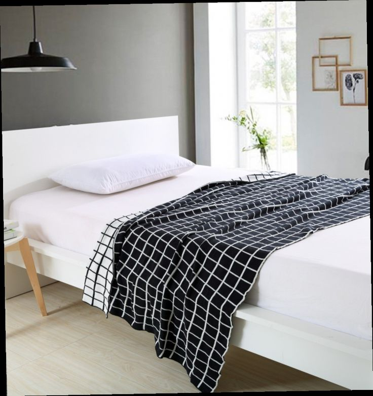49.89$  Watch here - http://alihly.worldwells.pw/go.php?t=32376732711 - Plaid Blanket Striped Knitted Blanket Cotton Blanket on the bed/sofa Wholesale Mantas Cobertores,Blanck&White 150cmx200cm 49.89$