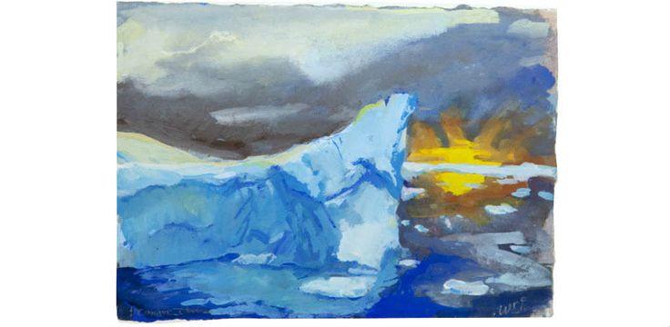 Painting for Antarctica: Wendy Sharpe and Bernard Ollis follow Shackleton   Australian National Maritime Museum