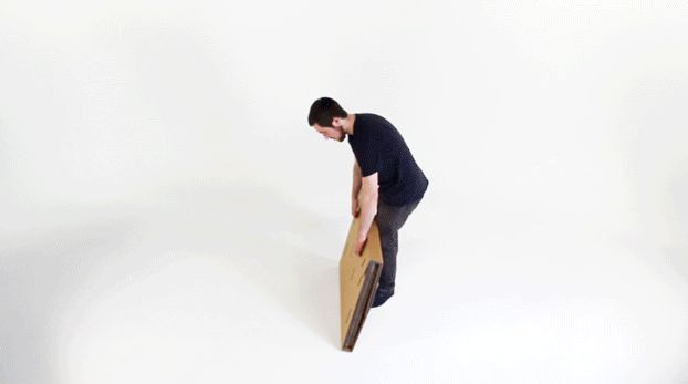 Refold, A Portable Standing Desk Made Entirely Out of Recycled Cardboard