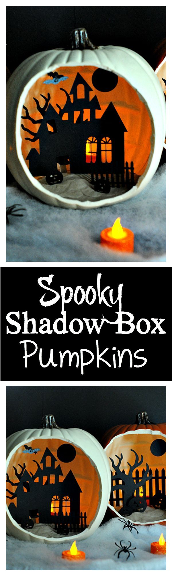 great halloween decoration shadow box pumpkins - Story About Halloween