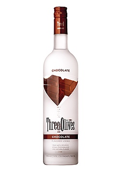 Three Olives Chocolate Vodka--my favorite! Mixed with Baileys, Milk & Hershey's syrup. Chocolate Martini.