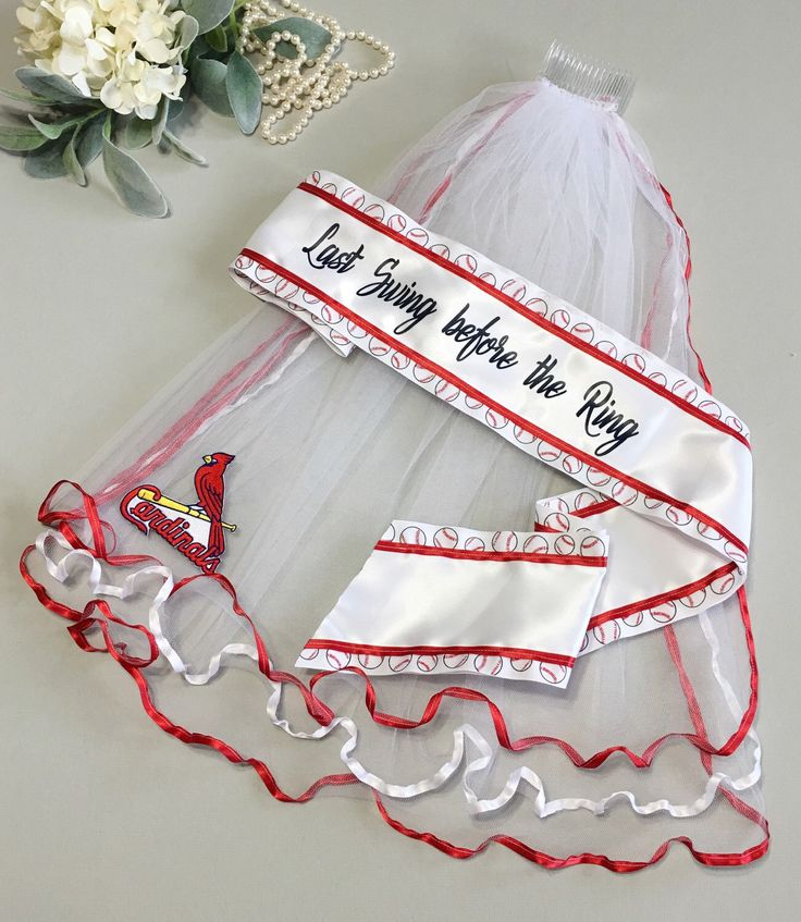 St. Louis Cardinals Bachelorette Party - Cardinals Wedding  A personal favorite from my Etsy shop https://www.etsy.com/listing/157775456/st-louis-cardinals-bachelorette-sash-and