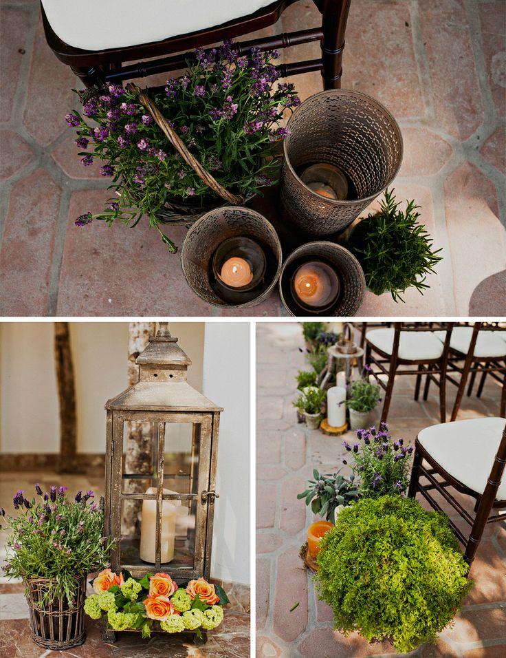 Garden theme wedding decor