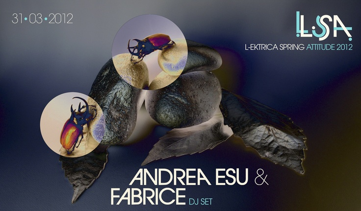 LSA 2012  / ANDREA ESU & FABRICE Web Poster _____Design & Photo: Lord Z