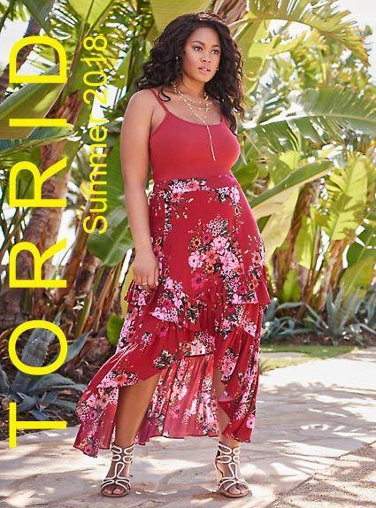 e092b200080 Torrid - американский lookbook одежды для полных модниц лето 2018 (Часть 2)   plussize