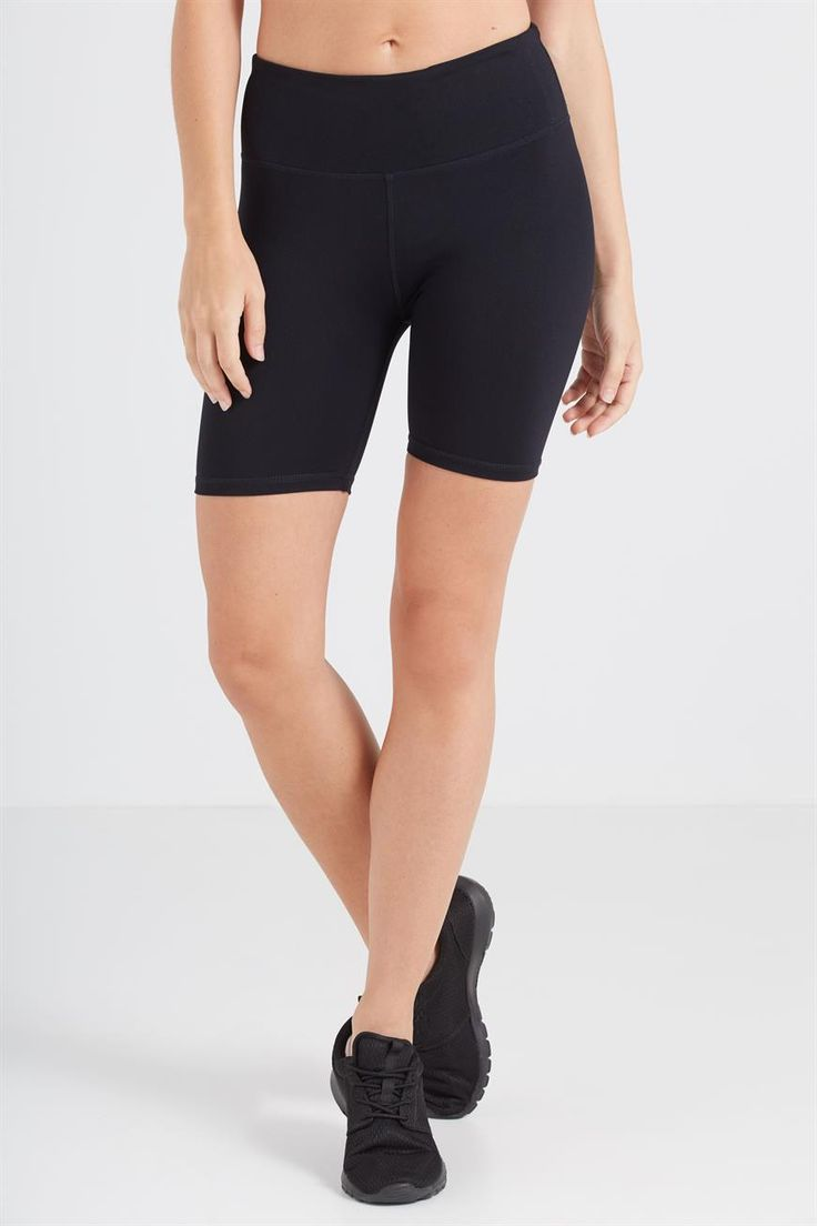 <br /><br /> • Skinny fit designed to firmly hug the body<br /> • High rise waistline<br /> • Mid thigh length<br /> • Wide Stretch fabric waistband doubled over<br /> • Waistband coin pocket<br /> • Reflective detail aids visibilty in low light conditions<br /> • Moisture wicking fabric treatment keeps you cool and dry<br /> • Flatlocked stitching<br /><br />  MODEL WEARS ...