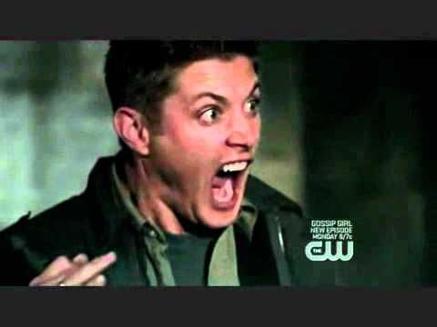 Dean Winchester funny cat Scream - seriously one of the funniest moments on TV ever!  I died...