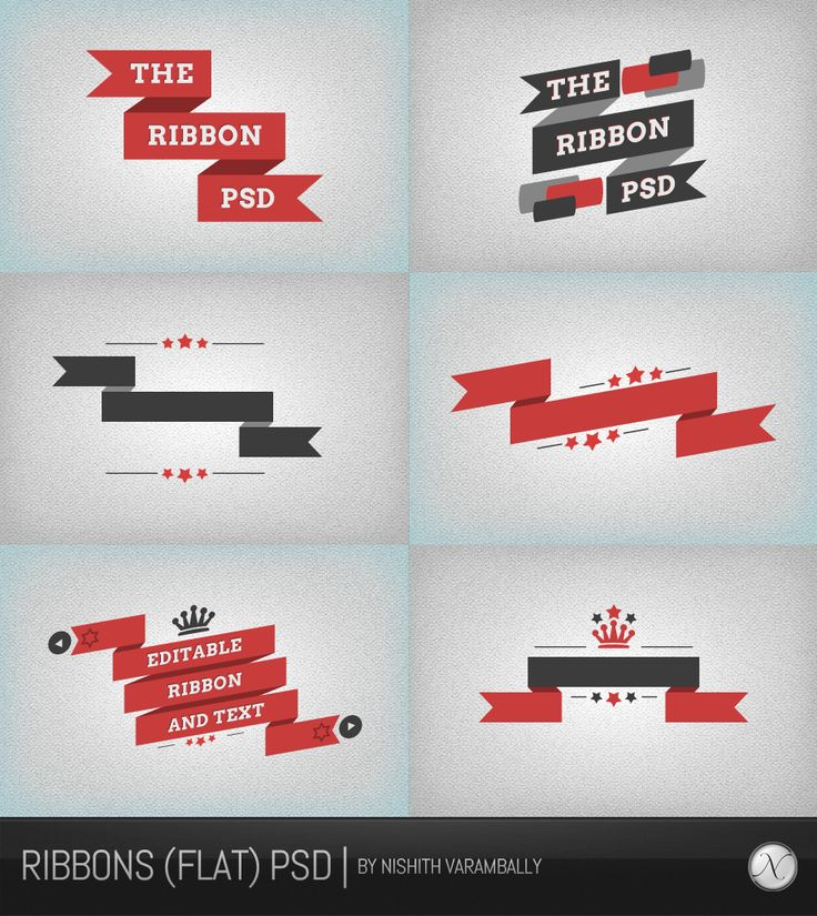 Ribbons (flat) PSD by NishithV