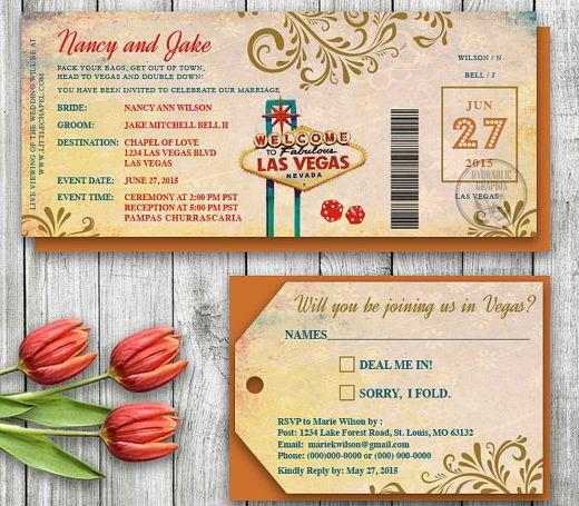 Movie Themed Wedding Invites