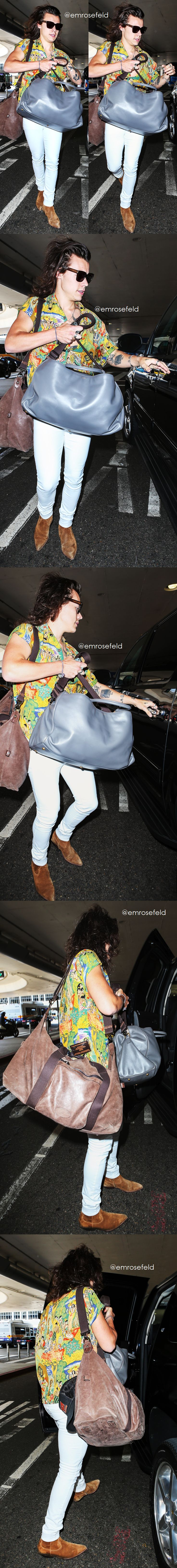 Harry Styles | at LAX 7.3.15 | @emrosefeld |