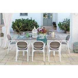 Nardi+Alloro+9+Piece+Dining+Setting+with+Extendible+Table