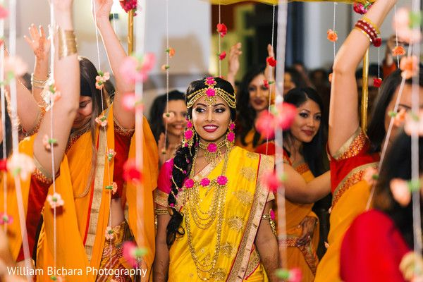 Indian Bride at Gaye Hould (Turmeric Ceremony) http://www.maharaniweddings.com/gallery/photo/82846