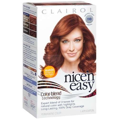 Clairol Nice N Easy Hair Dye In 110 Natural Light Auburn