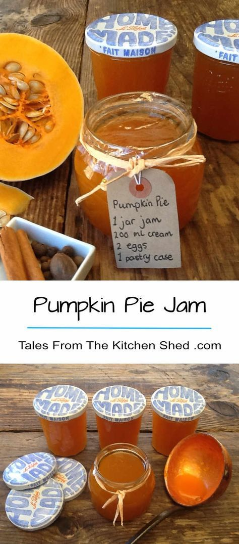 Whizz up your pumpkin innards and make Pumpkin Pie Jam. Laced with pumpkin pie spice and a touch of ginger, a taste of Autumn all year round! Great with cheese, use as an ingredient in your baking & make pumpkin pie, cupcakes, muffins or cookies.