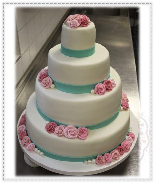 Bruidstaart - Rozen  Weddingcake - roses
