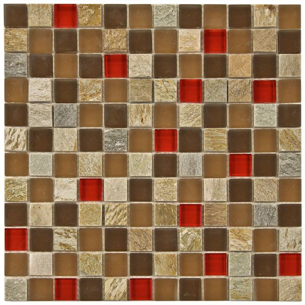 Mosaic Tile Apartment Ideas: Marbella Mix Mosaic Glass And Stone Tile 8mm Backsplash