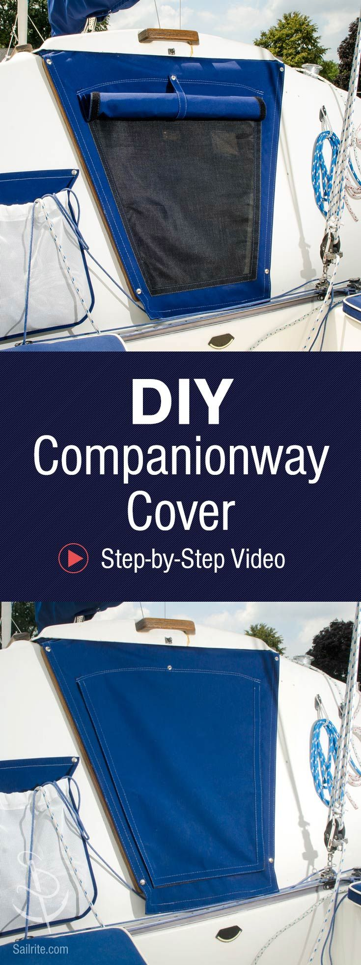 Maintain airflow and keep bugs out of your cabin with this DIY companionway cover with a roll-up shade.