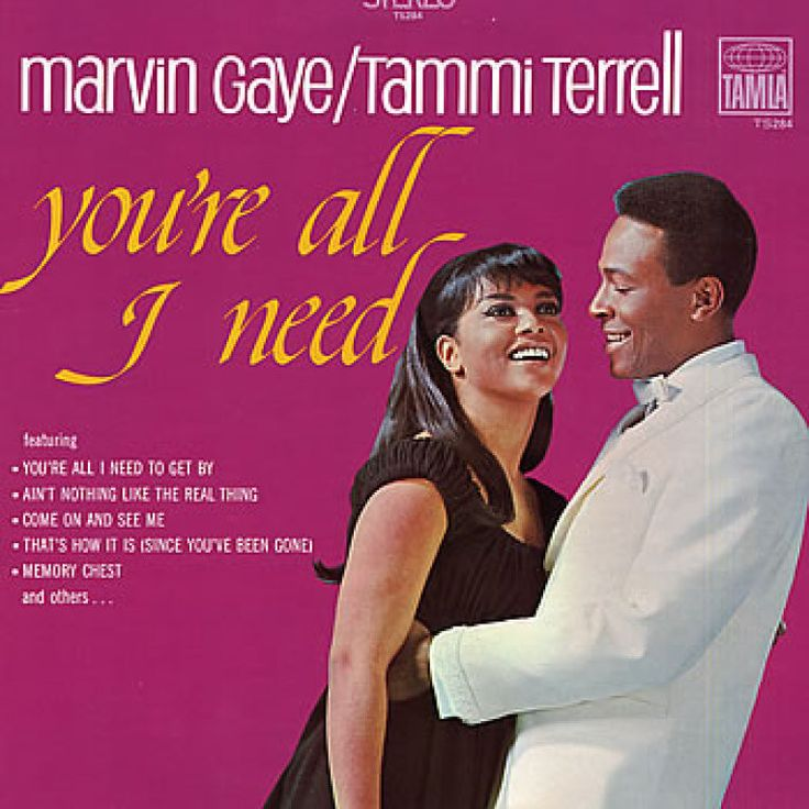 """Marvin Gaye And Tammi Terrell You're All I Need on 180g LP One of the most iconic singers of his generation, Marvin Gaye aka The Prince of Motown, was cited for his """"huge contribution to soul music in"""