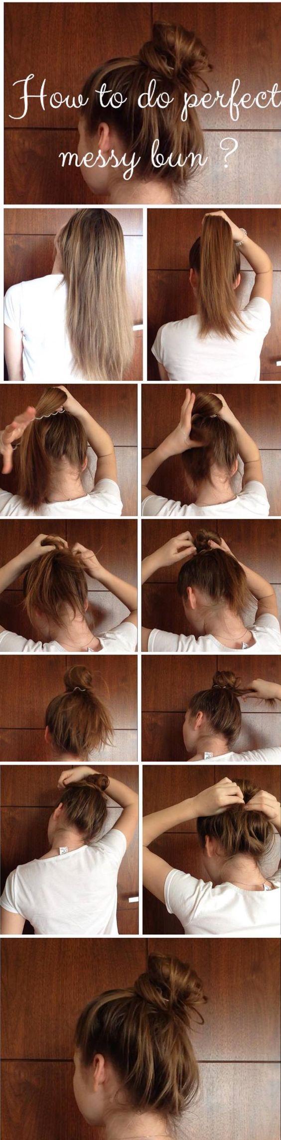 26 erstaunliche Bun Updo Ideen für langes und mittellanges Haar