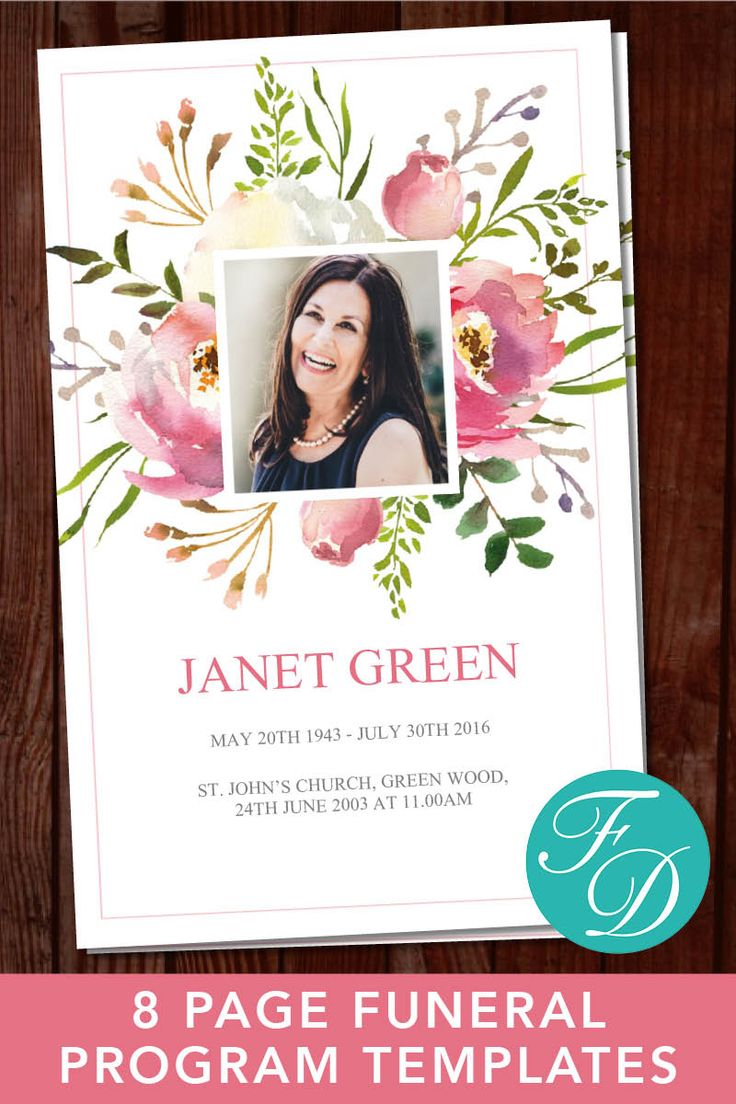 8 Page Printable Funeral Program ready to edit & print. Simply purchase your funeral templates, download, edit with Microsoft Word and print. #obituarytemplate #memorialprogram #funeralprograms #funeraltemplate #printableprogram #celebrationoflife #funeralprogamtemplates