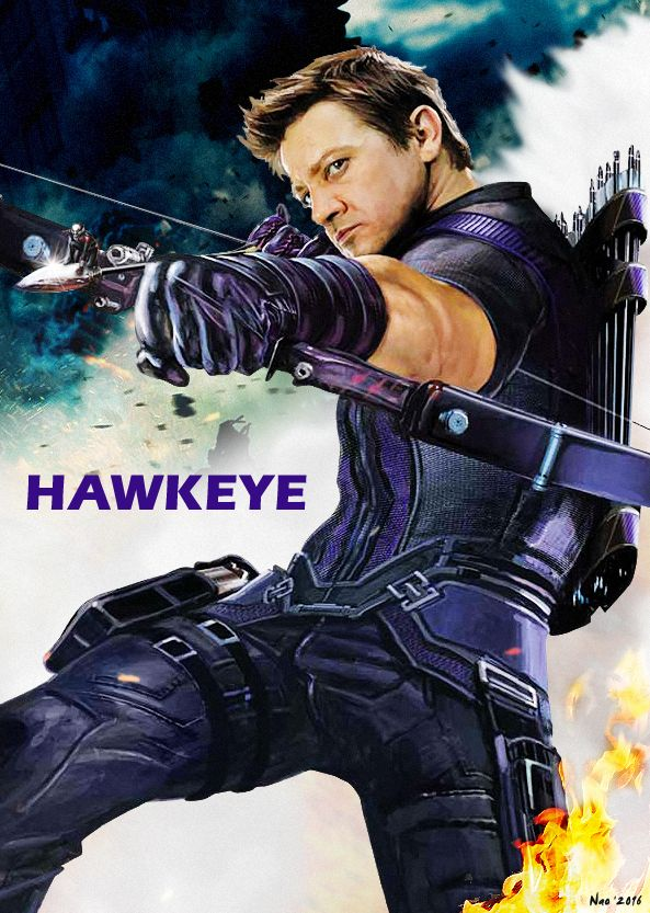 (Captain America Civil War Fan Art - Hawkeye / JeremyRenner @NaoNao) THIS IS BEAUTIFUL <3 <3 <3