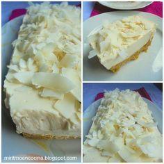 Tienes que apuntar esta tarta en tu recetario. Es de yogur y coco. ¡Qué rica!