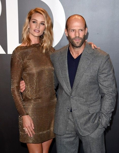 Jason Statham and Rosie Huntington-Whiteley - Celebs at the Tom Ford Fall 2015 Show - Photos