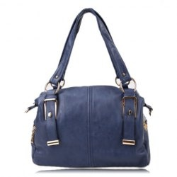$18.16 Casual Women's Shoulder Bag With Metallic and PU Leather Design