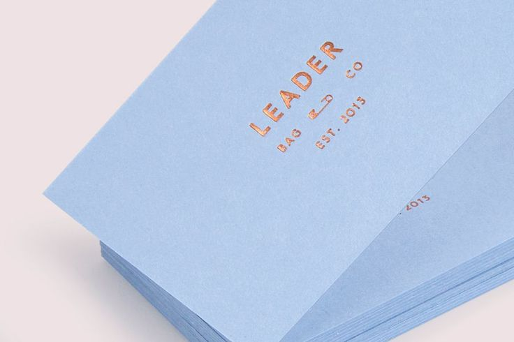 Leader Bag Co business cards designed by Lotta Nieminen.