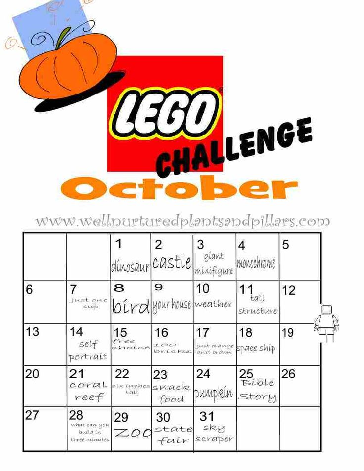 Daily Building Challenges #lego #printable FREE PRINTABLE!!!!