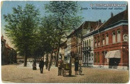 Breda, Willemstraat met Station 1932
