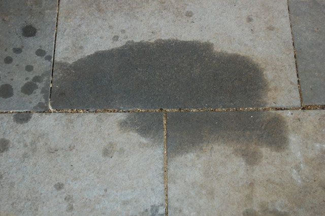 how to get grease stains out of pavers